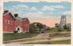 Massachusetts East Northfield Home Science Hall Gould Hall Sage Chapel 1919