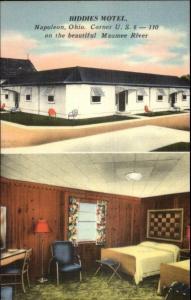 Napoleon OH Biddies Motel Roadside Linen Postcard