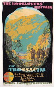 The Trossachs Book Lovers Britain Travel By Train Poster Postcard