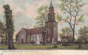 TUCK #2080, Bruton Parish Church, Small Cemetery, Williamsburg, Virginia, 190...