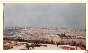 Jordan Old Vintage Antique Post Card View from Hotel Intercontinental on Moun...