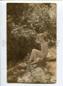 257749 NUDE GIRL Brook SUNLIGHT Vintage PHOTO NPG #424-12 PC