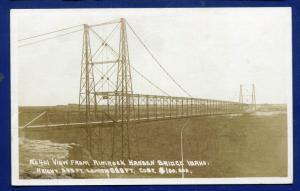 View from Rimrock Hansen Bridge Idaho id real photo postcard RPPC