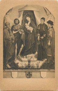 Religion roger van der weyden maria mit den kinde und die petrus  Postcard