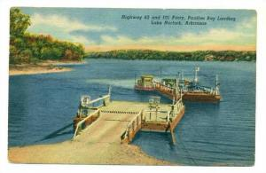 Ferry Boat at landing, Lake Norfolk, Arkansas, 30-40s