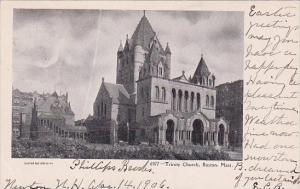 Massachusetts Boston Trinity Church 1906