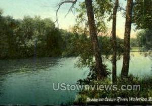 Scene on Cedar River Waterloo IA Unused