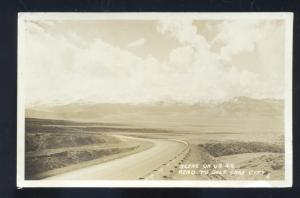 RPPC RENO NEVADA HIGHWAY 40 TO SALT LAKE CITY UTAH VINTAGE REAL PHOTO POSTCARD