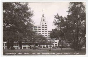 Edgewater Gulf Hotel Mississippi D94 RPPC real photo postcard