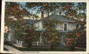 Rochester MN Public Park Rest House c1920 Postcard