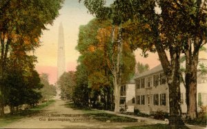 VT - Bennington. Monument from Old and New House