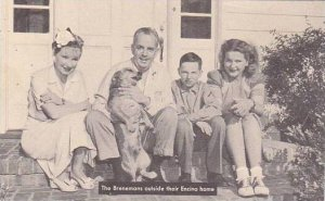 California Hollywood Tom Brennan's Family Outside Encino Home
