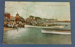 Vintage  Postcard The East Beach Southend On Sea Postmarked 1909 H1E