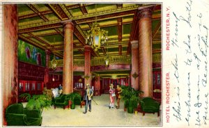 Rochester, New York - The Lobby of the Hotel Rochester - in 1917