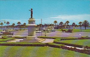Ponce De Leon Monument and Circle St Augustine Florida