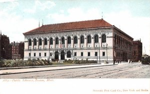 Public Library Boston, Massachusetts Postcard