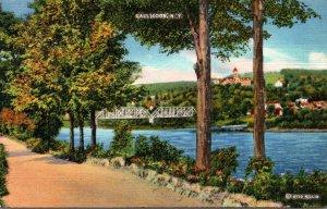 New York Callicoon River Front 1946 Curteich