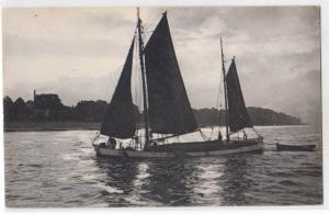 Sailboat, stamped Clogston Art Store, Marietta O