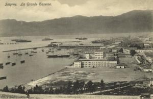 turkey, SMYRNE SMYRNA, La Grande Caserne (1920s) Sarantopoulos