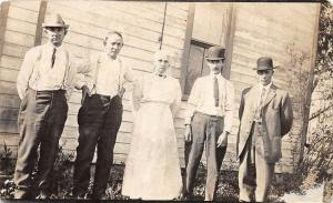 E32/ Carpenter? Meigs County Ohio Real Photo RPPC Postcard c1910 People