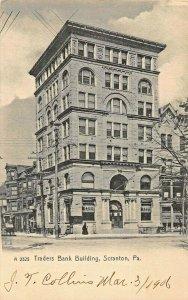 SCRANTON PA~TRADERS BANK BUILDING~1906 ROTOGRAPH PHOTO POSTCARD