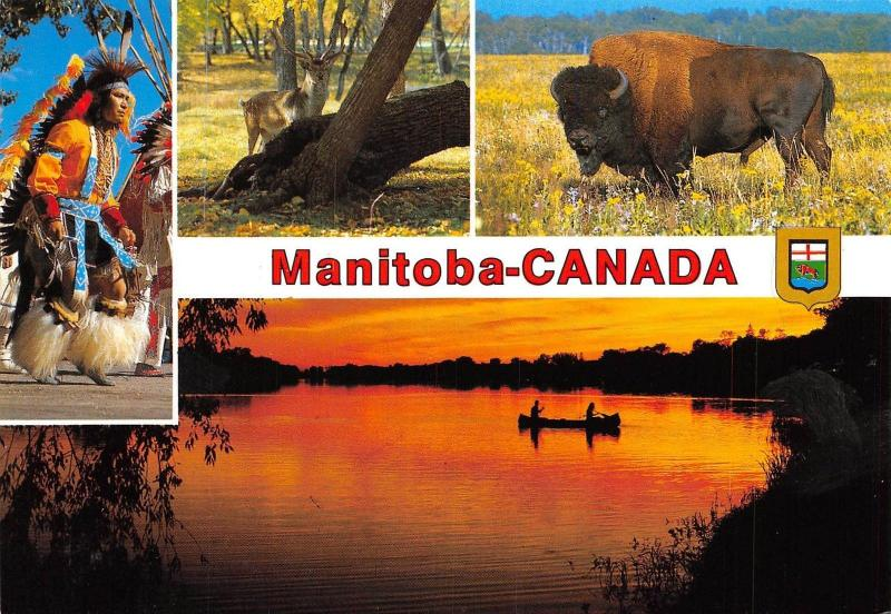 Canada Manitoba A province multiviews Lake Sunset