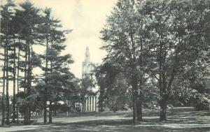 Burlington Vermont~University of Vermont~Ira Allen Chapel~1940s Albertype B&W PC