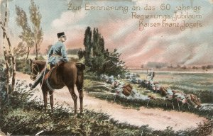 Military traiing. HorseNice vintage German postcard