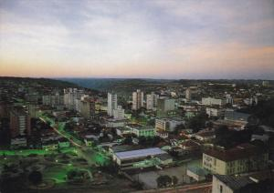 Aerial View, Downtown, Night View, BENTO GONCALVES, Brazil, 50-70's