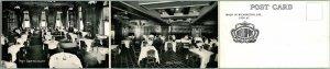 1910s WILMINGTON, Delaware 3-Panel Postcard HOTEL DUPONT Multi-View UNUSED