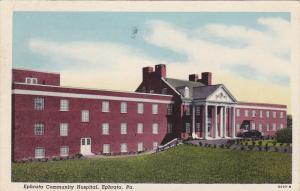 Exterior,  Ephrata Community Hospital,  Ephrata,  Pennsylvania,  PU_1955