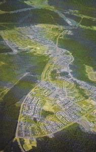Canada Aerial View Kitimat The Aluminum City British Columbia