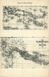 New Guinea, MAP Postcard, Papua Territory (1927) Misson