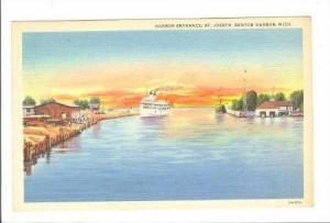 Harbor Entrance, Steamer, St. Joseph-Benton Harbor, Michigan, PU-1948