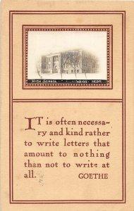 F97/ Wayne Nebraska RPPC Postcard c1910 High School Building 18
