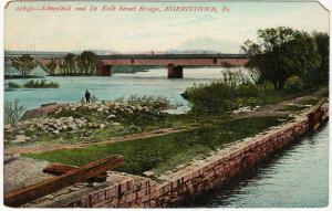 1907-15 Norristown PA Schuylkill Dekalb Street Bridge Montgomery Co DB Postcard
