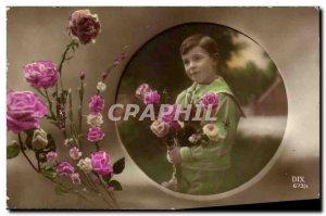 Fancy Old Postcard Roses Flower Child