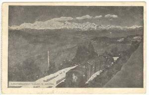 Kanchenjanga Range & train in winter, Nepal, PU-1955