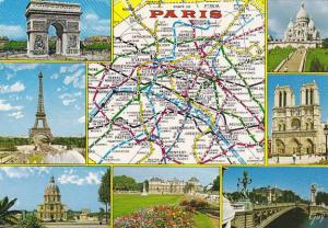 Map Of Paris Et Ses Merveilles France Multi View