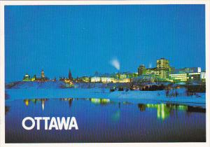 Canada Night Time View Ottawa Ontario