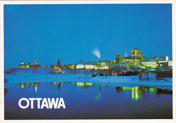 Canada Night Time View Ottawa Ontario