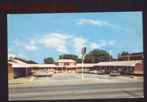 BRISTOW OKLAHOMA ROUTE 66 MOTEL 1960's CARS OLD ADVERTISING POSTCARD