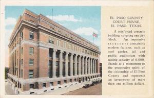 Texas El Paso The El Paso County Court House Curteich