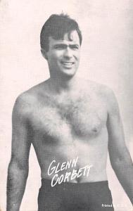 Glenn Corbett Non Postcard Backing Unused
