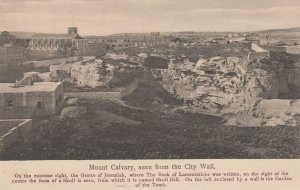 Mount Calvary seen from City Wall , Jerusalem , Israel , 00-10s
