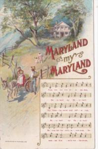 Song Card Maryland My Maryland 1916