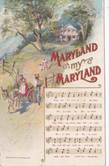 Song Card Maryland My Maryland 1916