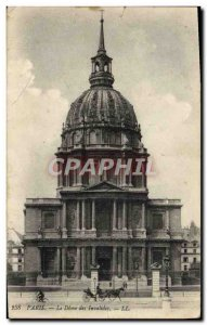 Old Postcard The Paris Invalides Dome oF