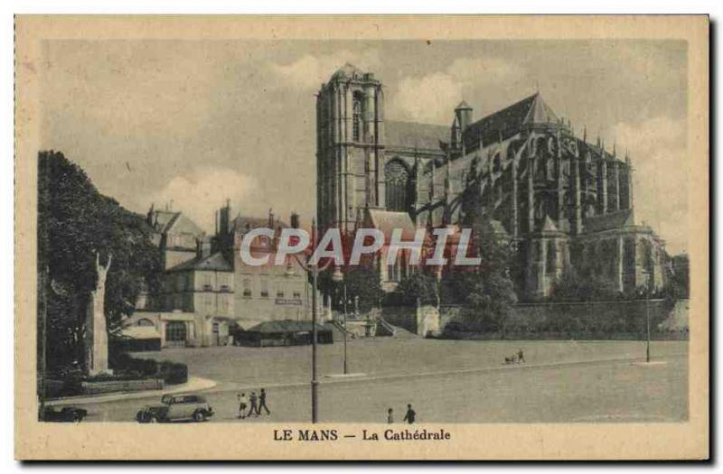 Old Postcard Le Mans Cathedral