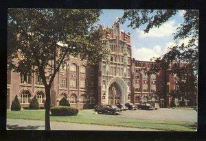 Providence, Rhode Island/RI Postcard, Providence College, Old 1950's Cars